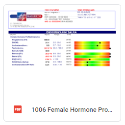 Female Hormone Profile Extensive Report