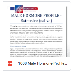 Male Hormone Profile Extensive Brochure