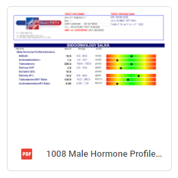 Male Hormone Profile Extensive Sample Report